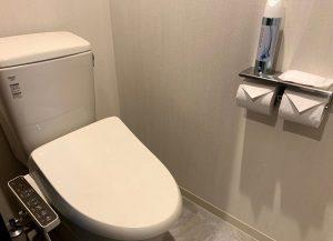 デザインホテルブラックスのトイレ